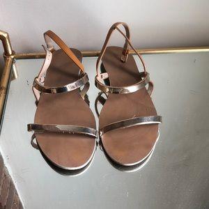 Shoes - Zara gold sandals
